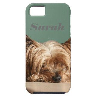 Sleeping Yorkie dog. iPhone SE/5/5s Case
