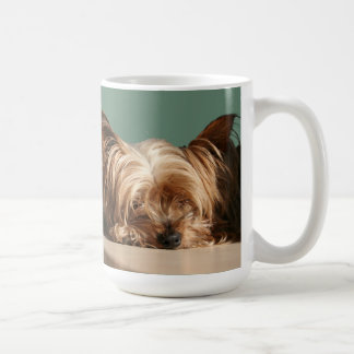 Sleeping Yorkie Dog Mug