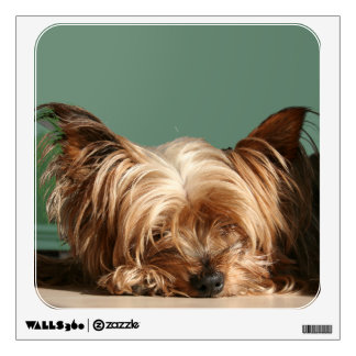 Sleeping Yorkie Dog Wall Decal