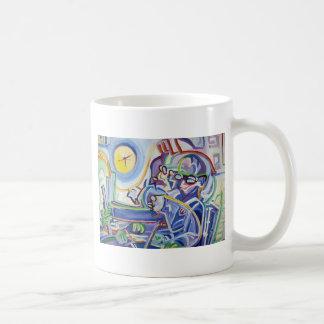 Sleepless Man With Ruler Classic White Coffee Mug