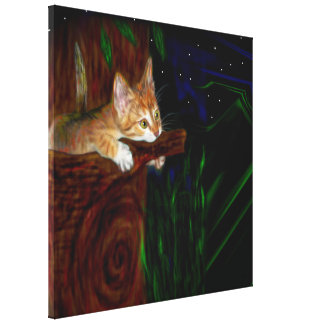 Sleepless Night Wrapped Canvas Print