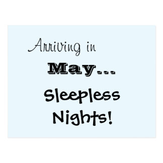 Sleepless Nights Baby Announcement Postcard