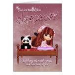 Sleepover Invitation Card