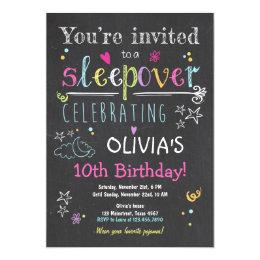 Sleepover invitations 500 sleepover announcements invites sleepover invitation slumber party pajamas girl stopboris Image collections