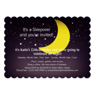 Sleepover Moon and Stars Custom Announcement