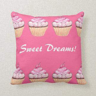 Sleepover rosado de las magdalenas de los chicas d cojín