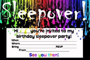 Sleepover invitations 500 sleepover announcements invites sleepover slumber party invite stopboris Gallery