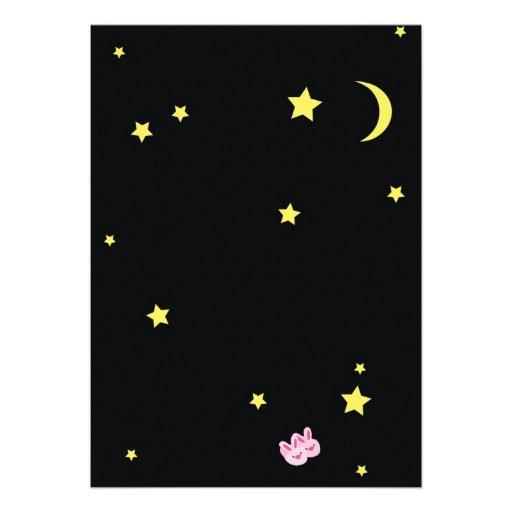 Sleepover! Slumber Party Themed Invitations (back side)
