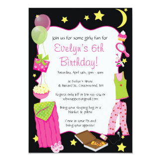 slumber party invitations & announcements | zazzle, Party invitations
