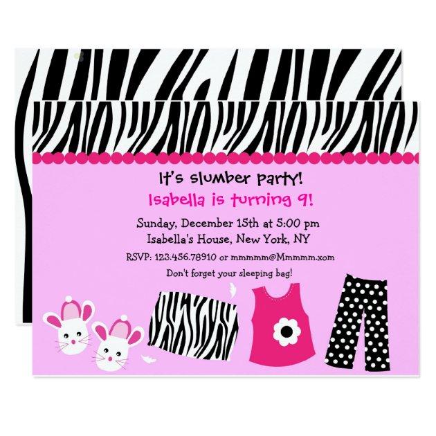 Sleepover Zebra Print ...