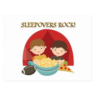 Sleepovers Rock Postcard
