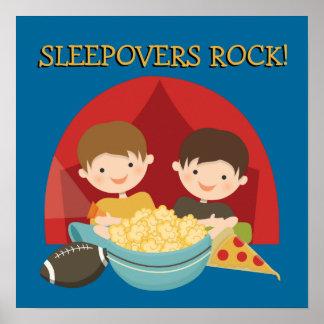 Sleepovers Rock Poster