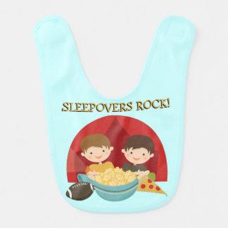 Sleepovers Rock Bibs