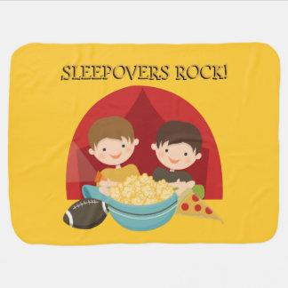 Sleepovers Rock Swaddle Blanket