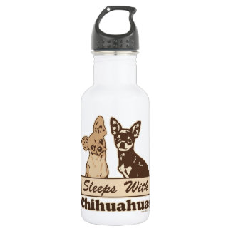 Sleeps With Chihuahuas 18oz Water Bottle