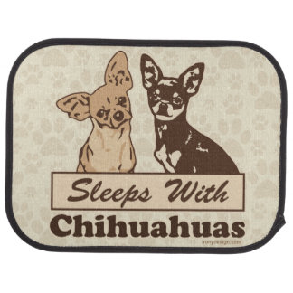 Sleeps With Chihuahuas Car Floor Mat