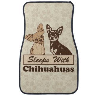 Sleeps With Chihuahuas Car Mat