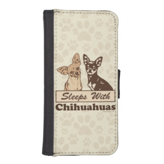 Sleeps With Chihuahuas Phone Wallet Cases