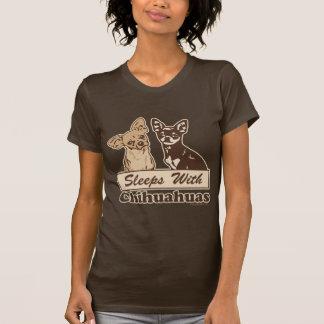 Sleeps With Chihuahuas Tshirt