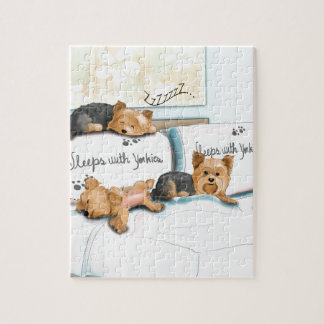 Sleeps with Yorkies by Catia Cho Jigsaw Puzzle