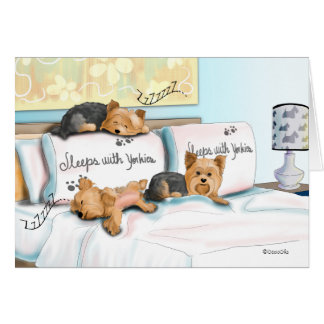 Sleeps with Yorkies Card