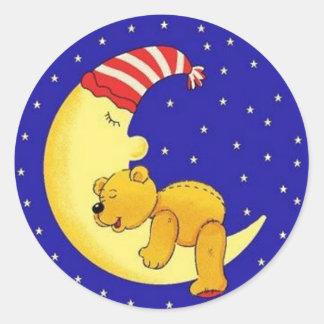 Sleeptime Bear Classic Round Sticker