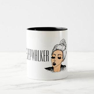 Sleepwalker girl morning mug