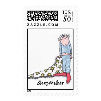 SLEEPWALKER POSTAGE STAMP BY SUSAN MCGRAW KEBER