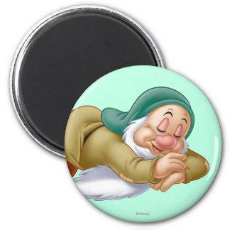 Sleepy 2 Inch Round Magnet