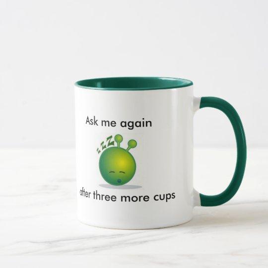 Sleepy alien Mug