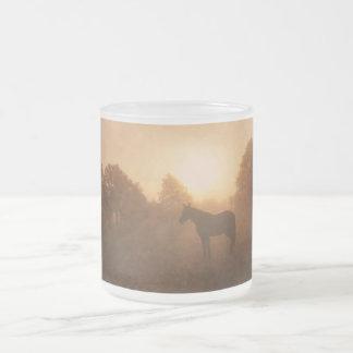 Sleepy at Sunrise Frosted Glass Coffee Mug
