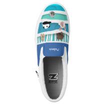 Sleepy Baby Animals Slip-On Sneakers