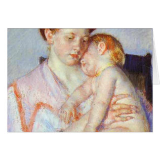 Sleepy Baby. c. 1910, Mary Cassatt Card