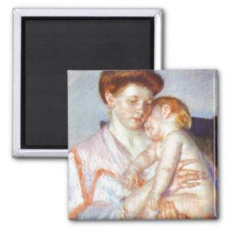 Sleepy Baby. c. 1910, Mary Cassatt Magnet