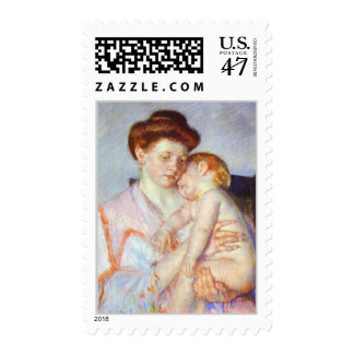 Sleepy Baby. c. 1910, Mary Cassatt Postage Stamps