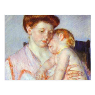Sleepy Baby. c. 1910, Mary Cassatt Postcard
