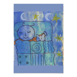 Sleepy baby card