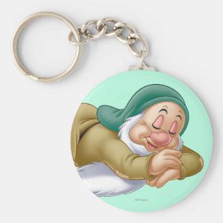 Sleepy Basic Round Button Keychain