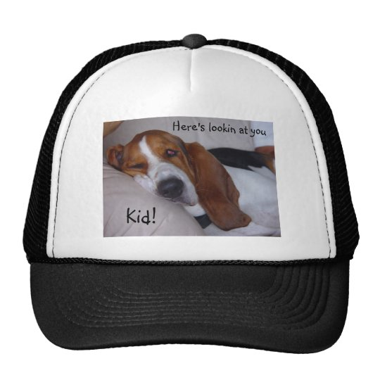 Sleepy Basset Hound Trucker Hat