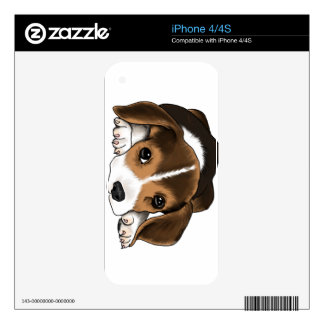 Sleepy Beagle Decals For iPhone 4S