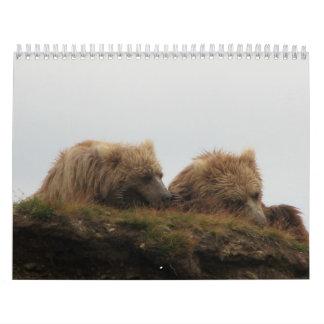 Sleepy bear wall calendar