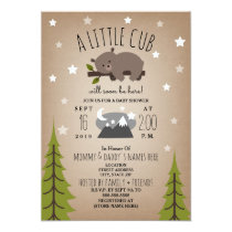 Sleepy Bear Cub  Mountains Baby Shower Invitation