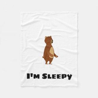 Sleepy Bear I'm Sleepy Fleece Blanket