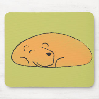 Sleepy Bear Mouse Pad