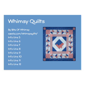 Sleepy Bear Quilt Large Business Cards (Pack Of 100)