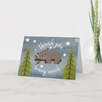 Sleepy Bear Thank You Stars Watercolor