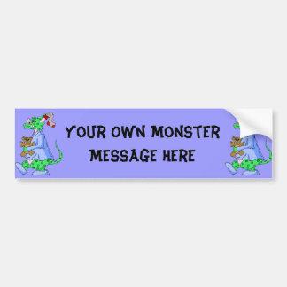 Sleepy Bedtime Monster Bumper Sticker
