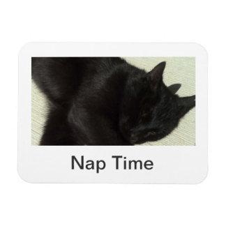 Sleepy Black Cat Flexi Magnet