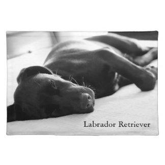 Sleepy Black Labrador Retriever Pup Placemat