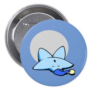 Sleepy Blue Star Button